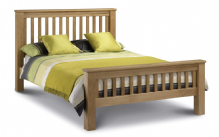 Devon oak bedframe - High foot end Double/King/Superking